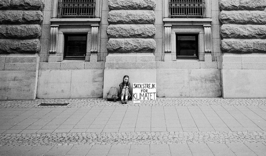 Greta Thunberg: photo by Adam Johansson
